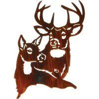 Summer Romance - Deer Metal Art