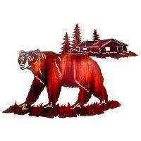 Spring Black Bear Metal Wall Art