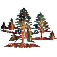 Pine Trees Metal Wall Art