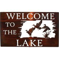 Welcome to the Lake Metal Sign