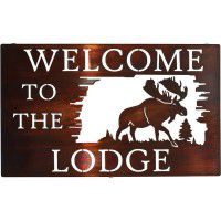 Welcome to the Lodge Metal Signs