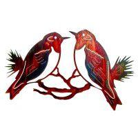 Western Bluebirds Metal Wall Art