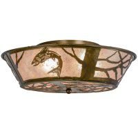 North Woods Trout Ceiling Light