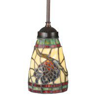 Stained Glass Pinecone Pendant Light