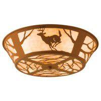 Deer On The Loose Flush Ceiling Light