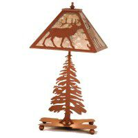 Lone Elk Table Lamp