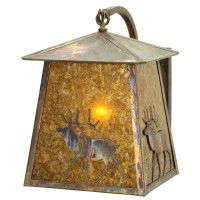 Stillwater Lone Elk Curved Arm Wall Sconce