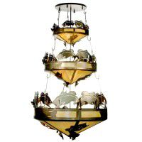 3 Tier Catch Of The Day Bass Inverted Pendant Light