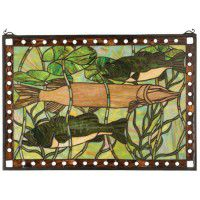 Pike and Bass Stained Glass Window