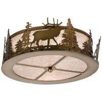 Elk At Dusk Ceiling Light