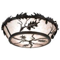 Oak Leaf & Acorn Ceiling Light