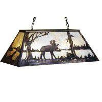 Silver Mica Moose Billiard Light