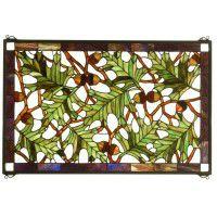 Tall Oak Stained Glass Window