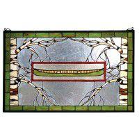Adirondack Canoe Stained Glass Window