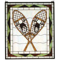 Snowshoe Stained Glass Window