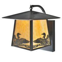 Stillwater Loon Curved Arm Wall Sconce