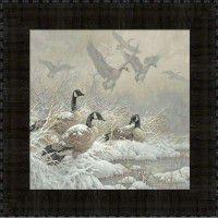 Winter Retreat Goose Framed Print