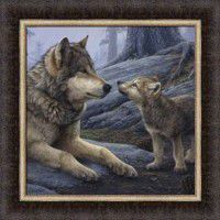 Brother Wolf Framed Print