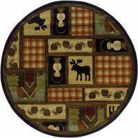 Moose Lodge Round Rug