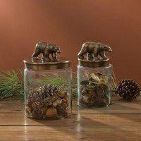 Glass Bear Canister Set