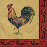 Rooster Luncheon Paper Napkins-CLEARANCE