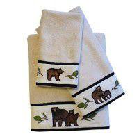 Black Bear Bath Towels