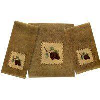 Pine Bluff Pine Cone Towels