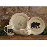 Rustic Retreat Bear Dinnerware