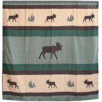 Cedar Trail Moose Shower Curtain