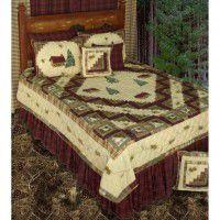 Forest Log Cabin Quilt Sets