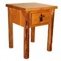 One Drawer Log Nightstand
