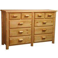 Ten Drawer Dresser w/ Split Top Chest