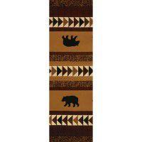 Woodcut Bear Runner