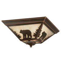 Bozeman Bear Ceiling Light