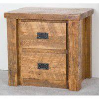 Northwoods Barnwood 2 Drawer Nightstand