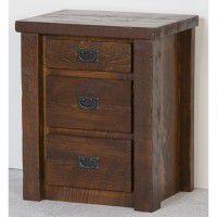 Northwoods Barnwood 3 Drawer Nightstand