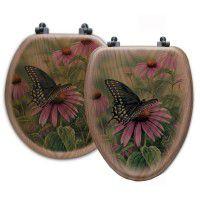 Black Swallowtail Butterfly Toilet Seats