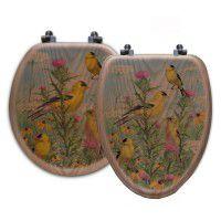 Golden Glories Song Bird Toilet Seats