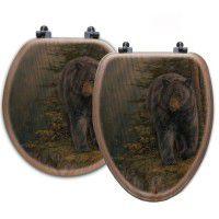 Rocky Outcrop Bear Toilet Seats