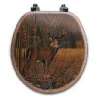 Spring Thaw Deer Toilet Seat-Round