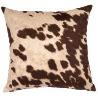 Brown Faux Hair on Hide Pillow