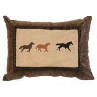 Running Horses Pillow