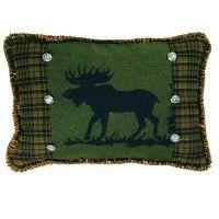 Pine Moose Rectangle Pillow