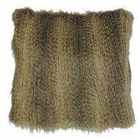 Faux Raccoon Fur Pillow