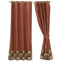 Silver Thicket Grommet Drapes