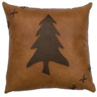 Leather Tree Pillow