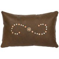 Caribou Leather Swirl Pillow