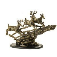 Bound for Cover-Whitetail Deer Sculpture