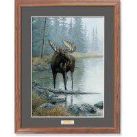Quiet Water-Moose Print