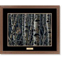 Inconspicuous – Black Bear Framed Art Print